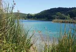 Swimming in lake at Lago Dell'Accesa